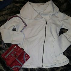 Converse All Star Diagonal zip Cowl neck jacket Dress it up or dress it down perfect for a basic day in the city or a girls night on the town.  Converse all star zip front jacket is affordable for any budget,  wear it any season and you'll continue to love it! Converse Jackets & Coats