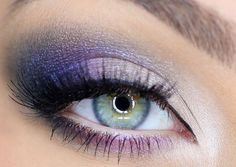 For the bride that is looking for a splash of color in their wedding makeup, you can't go wrong with a purple smokey eye. Yes, we've all read that green and hazel eyes pop next to purple eye shadow, but you blue and brown eyed girls can pull this look off, too! Check out our 10 favorite purple smokey eye looks in shades from plum and lilac to eggplant and violet!