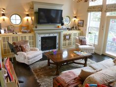 Family Room, fireplace surround inspired by David Easton!
