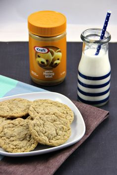 Peanut Butter and Honey Oatmeal Cookies - perfect for an after school snack or a yummy treat on the run.