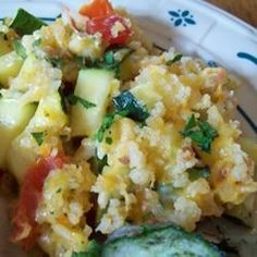 Zucchini Herb Casserole - Amazingly delicious and perfect for all those zucchini and tomatoes at the end of the summer