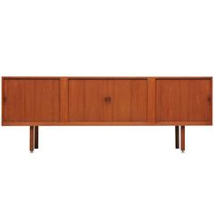 Danish Modern Vintage Design Credenza In Teak | From a unique collection of antique and modern sideboards at http://www.1stdibs.com/furniture/storage-case-pieces/sideboards/