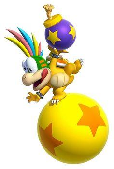 Super Mario, Family and Friends!!. #Lemmy Koopa #Characters #Art #New Super Mario Bros U.
