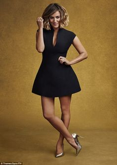 Out with the old: Caroline Flack is one of two new presenters to the main show this year, replacing Dermot O'Leary