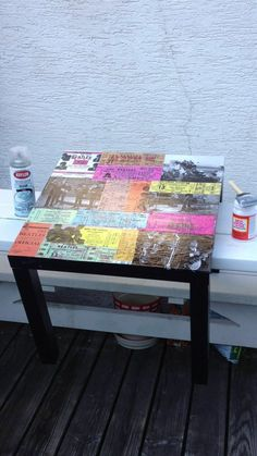Owl you need is Crafts : How to decoupage an IKEA table!
