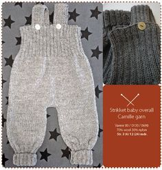 Strikket babyoverall i blød ulCould probably modify the baby balloon pants pattern to make these.Baby Knitting Patterns Pants Knitted baby cover in soft wool yarn -This Pin was discovered by JacChildren and Young Knitting For Kids, Baby Knitting Patterns, Crochet For Kids, Baby Patterns, Balloon Pants, Baby Balloon, Baby Overalls, Baby Pants, Baby Outfits