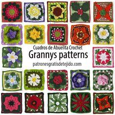 Crochet y Dos agujas: +20 Patrones de los mejores Grannys de la web / li...
