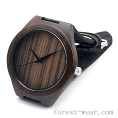 wood watch with leather band WL-016