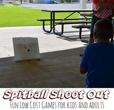 Spitball Shoot Out Target Game, Scout pack meeting games, low cost and easy games for a family reunion or group party, ward party ideas
