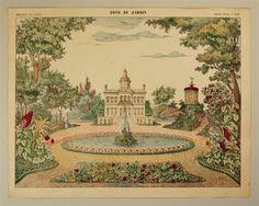 Fond de Jardin. Imagerie d'Épinal, No 1588.
