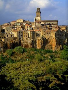 We drove right across from here and had to stop and stare for a while. Pitigliano, Tuscany, Italy