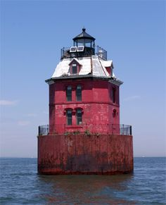 SANDY POINT SHOAL LIGHT : Nr. SANDY POINT | CHESAPEAKE BAY | MARYLAND | USA: *First Lit: 1883; Automated: 1963*