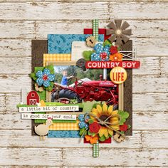 Digital Scrapbook Layout using  Farm Livin' by Heather Roselli and Duo 21 - Purty Pile template by Brook Magee