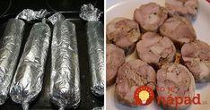Mäsová rolka z rúry: Perfektné predjedlo, chuťovka na studené misy alebo skvelá večera!