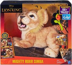The Disney The Lion King Mighty Roar Simba Interactive Plush Toy embodies all the fun, charm, and humor of animations most famous lion cub -- and now he can come along with you on all new adventures! Lion King Toys, The Lion King, Toys For Girls, Kids Toys, Pet Toys, Elliev Toys, Baby Toys, Little Live Pets, Gata Marie