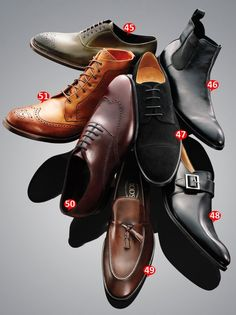 The man's shoes collection