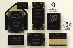 Wedding Invitation Suite - Hannah by Print The Love Boutique on @creativemarket