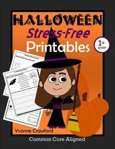 Halloween NO PREP Printables - First Grade $