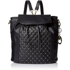 MG Collection Seren Studded Quilted Backpack (204490 PYG) ❤ liked on Polyvore featuring bags, backpacks, satchels, satchel backpack, travel satchel, sparkle backpack and satchel handbags