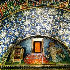 On this, my 2nd visit to the mausoleum of Galla Placidia in #Ravenna I'm still enchanted as ever by the magical #mosaics preserved since the 5th century AD - Instagram by @Gina SuuperG Stark