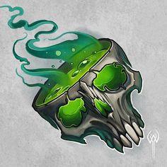 ADAM WHITE Skull Tattoo Design, Skull Tattoos, Tattoo Designs, Graffiti Drawing, Graffiti Art, Tattoo Sketches, Tattoo Drawings, Desenho New School, Tattoo Flash Art