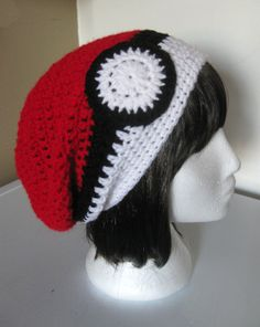 Pokeball Slouchy Hat by ShopOfManyThings on Etsy, $20.00