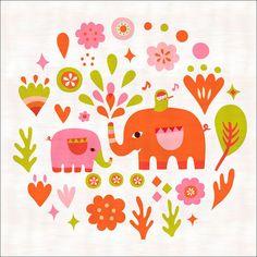 Elephant Charmer Canvas Art