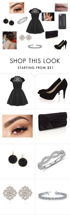 """Sem título #14"" by giovannagoulart ❤ liked on Polyvore featuring Coast, Karen Millen, Wet n Wild, Lancôme, Accessorize, ABS by Allen Schwartz, Blue Nile and STONE"
