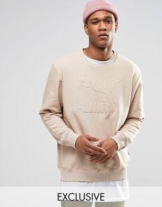 Puma+Oversized+Sweatshirt+In+Beige+Exclusive+To+ASOS