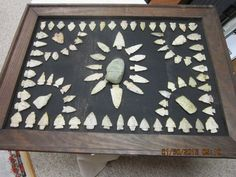framed old arrowhead collection 89 points