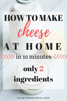 how to make cheese at home in 10 minutes using only 2 ingredients