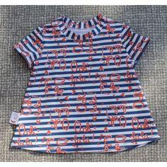maely stripes, katoenen tricot van Hilco stoffen, jurkje maat 68.