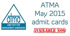 ATMA May 2015: Download admit cards now