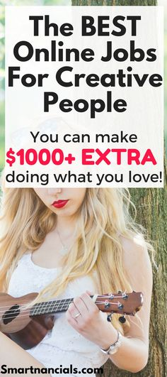 The BEST online jobs for creative people| Creative jobs that can make you money| Make money doing thing you love| Make money from home| Earn money from home!