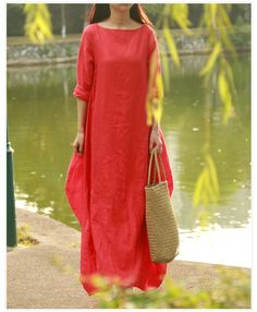 New spring Summer Style Women Cotton Linen loose long Dress slash neck elegant China Style juniors maxi dress linen dress