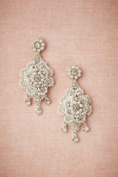 Crochet Crystal Earrings #bride #wedding