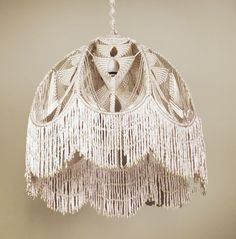 Macrame chandelier baby mobile nursery wall hanging ...