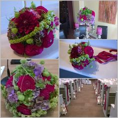 Romantische Blütenkugeln