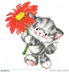 Find Cute Animal Valentine Red Heart Watercolor stock images in HD and millions of other royalty-free stock photos, illustrations and vectors in the Shutterstock collection. Vintage Clipart, Cute Clipart, Cute Animal Illustration, Watercolor Illustration, Heart Illustration, Cute Images, Cute Pictures, Cat Pattern Wallpaper, Cat Cards