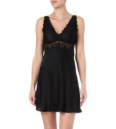 e1ad073eab NK IMODE Silk and lace chemise (Black Silk Dress