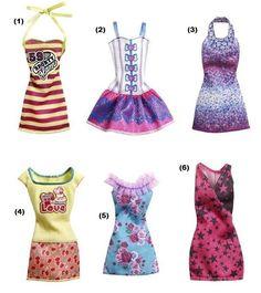 Yellow XOXO Top w/Cupcake / Peach Colored Skirt w/Hearts. Fits any basic Barbie doll. Barbie Dress, Barbie Clothes, Barbie Outfits, Barbie Stuff, Barbie Chelsea Doll, Peach Skirt, Fashion Dolls, Fashion Outfits, Barbie Fashionista Dolls