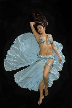 blue belly dancing costume
