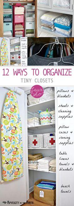 12 Ways to Organize Tiny Closets -