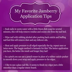 My favorite Jamberry Nail application tips! A great application means a longer lasting manicure! http://KelliesJam.jamberrynails.net