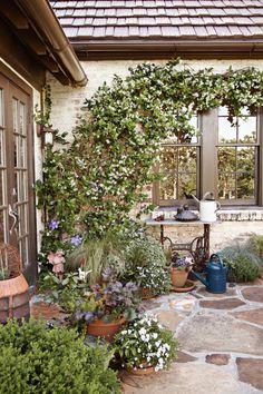 Tudor House Patio  - CountryLiving.com