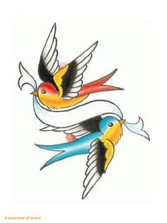 Bird Drawings In Design | Free Download Popular Tattoos Birds Tattoo Designs Design #43660 With ...