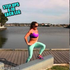 Fat burning outdoor workout, no equipment needed - Emily Skye FIT