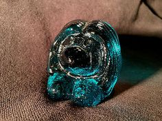 Blue Glass Troll from Bergdala Glassworks in Småland, Sweden