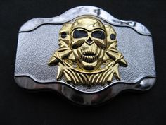 SKULLS 3-D EVIL SKELETON EVIL PUNISHER BELT BUCKLE #skull #skullbuckle #skullbeltbuckle #skulls #beltbuckles #buckle