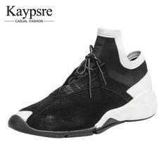 db504e9814bb  Kaypsre весна осень Повседневное кожаные туфли модная мужская обувь на  шнуровке подошве высокие модные мужские туфли купить на AliExpress